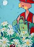 "Daisy Day serigraph size: 10""x6"""