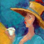"Rita Orr painting: Tea Bird, image size: 30""x 24"""