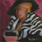 """Things are Rose, image size: 12""""x 12"""", painting in acrylic by Rita Orr"""