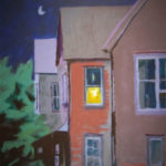 Title: Across The Alley, painting by Rita Orr