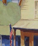"""Flag Day, image size: 36""""x 12"""", painting by artist Rita Orr, Osage Beach, MO"""